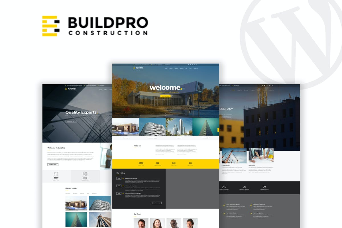 BuildPro - Business & Construction wordpress theme download free premium