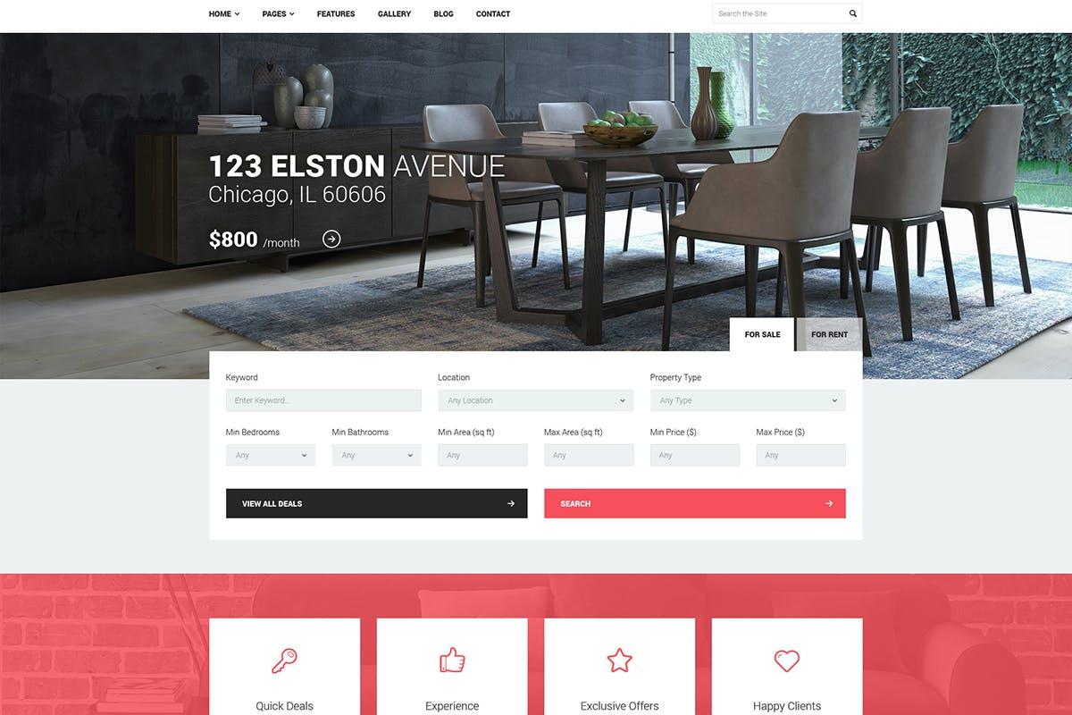 Good Homes - Real Estate wordpress theme download free premium