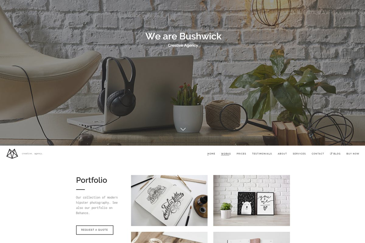 Bushwick - Lightweight Minimal WordPress Theme