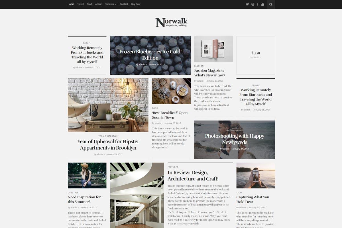 Norwalk – Magazine-Styled Blog WordPress Theme