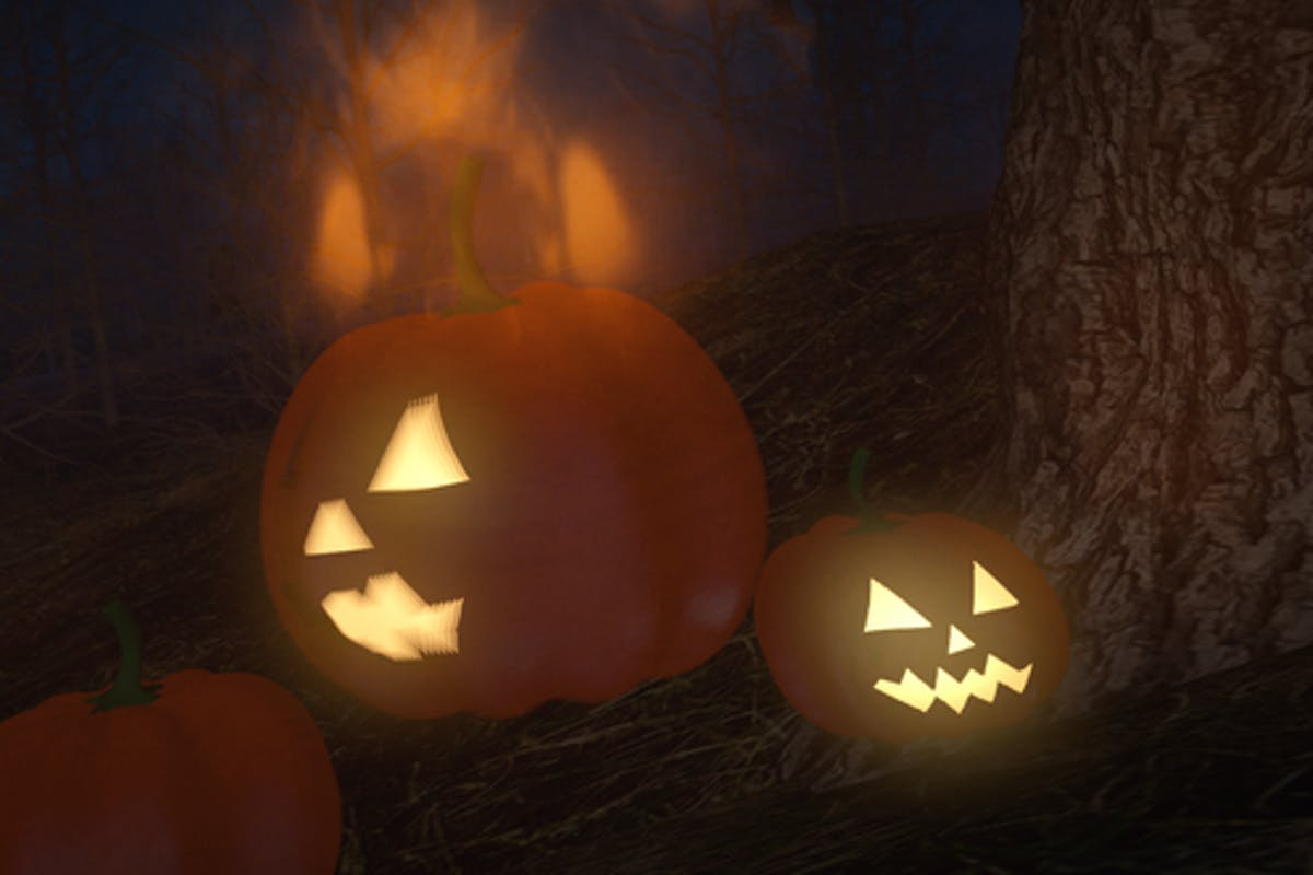 Halloween Forest Logo For Premiere Pro