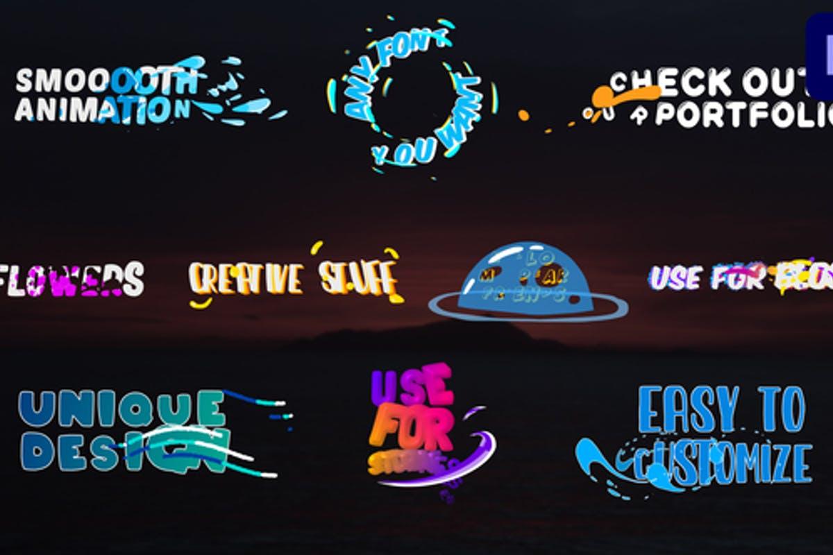 Colorful Liquid Titles   Premiere Pro MOGRT