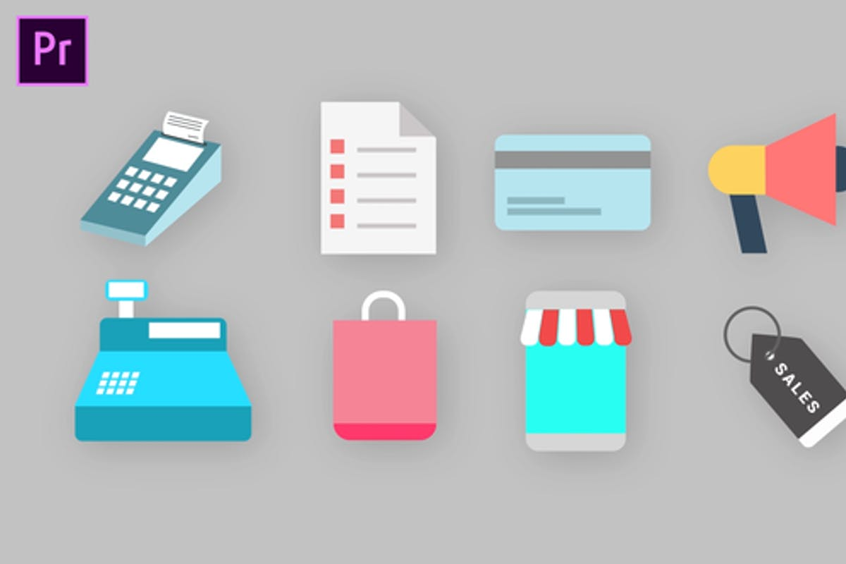 Shopping Icons Pack For Premiere Pro