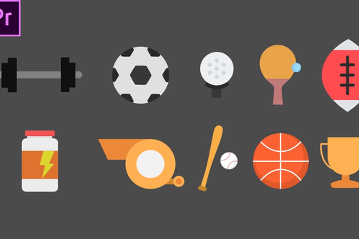 Sport Animated Icons For Premiere Pro